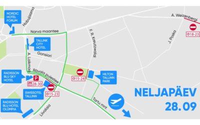 Liikluskorraldus neljapäeval, 28. septembril